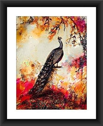 Peacock Painting by Sabiha Hasan Sumbul